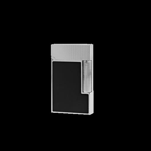 S.T.Dupont Ligne 2 Diamantspitzenmuster in Platin (schwarz)